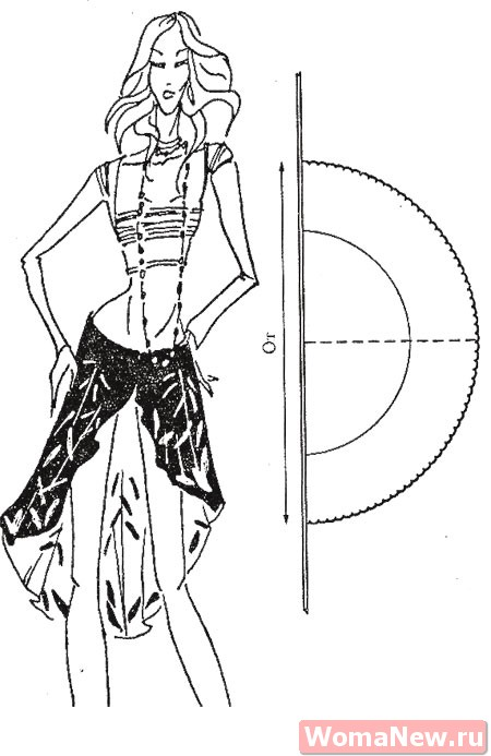 выкройка красивой юбки для танцев