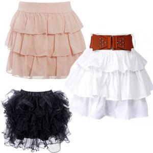 Красивая и озорная юбка с воланами, выкройка.