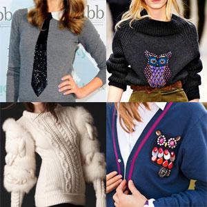 Как украсить свитер своими руками.