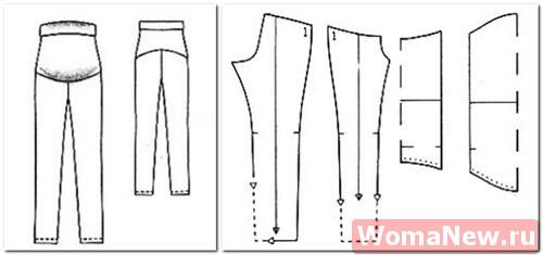 выкройка брюк для беременных