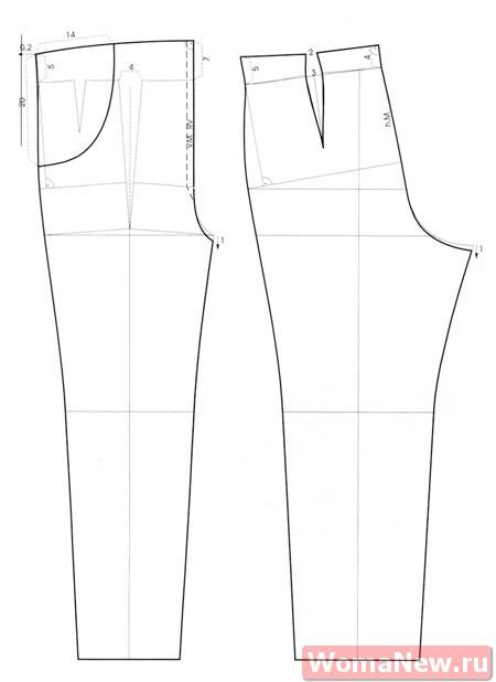 выкройка брюки для беременных