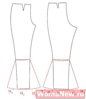 выкройки брюк клеш