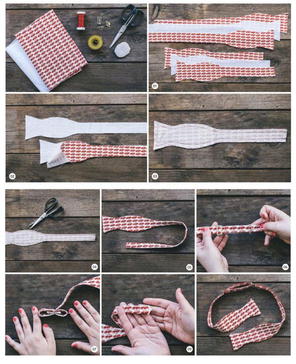 как сшить галстук бабочку