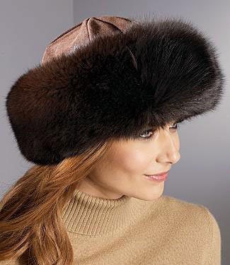 Выкройка модной меховой шапки.