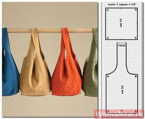 выкройка сумки из ткани2