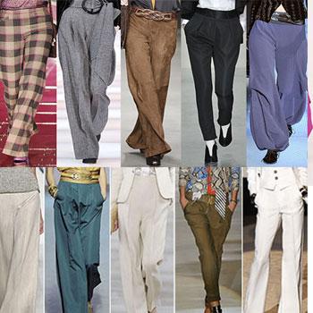 Выкройки брюк, 10 моделей, видео.