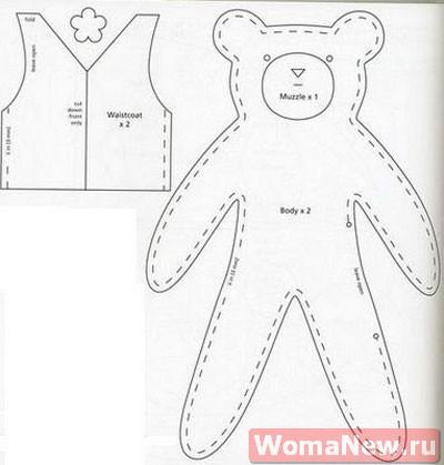 медведь выкройка
