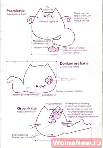 выкройки примитивных котиков