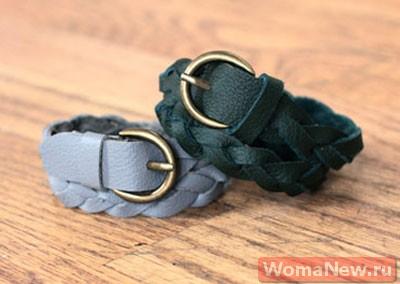 плетеный браслет из кожи своими руками