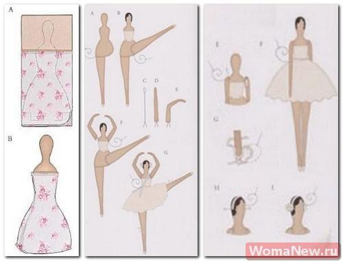 Балерина своими руками из ткани выкройки