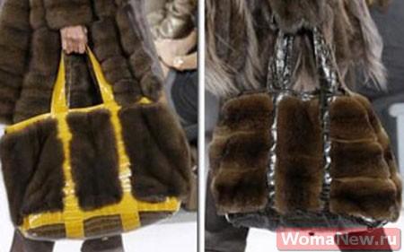 выкройки сумок из меха
