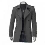 Выкройка стильного мужского пальто.