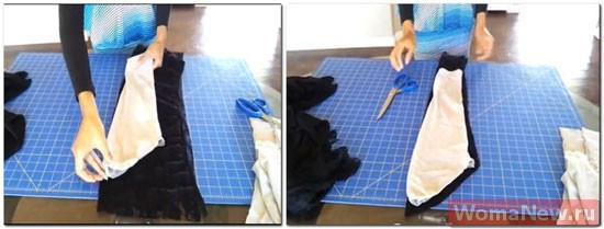 шить баску к блузке