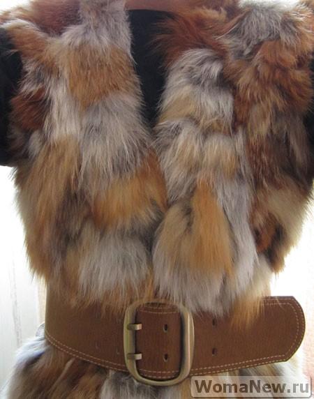 сшить из рыжей лисы жилет