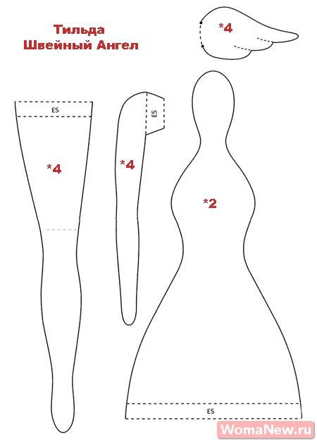 выкройка тильда швейная