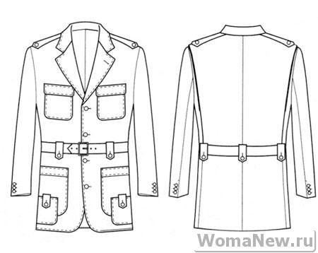 как сшить мужское пальто