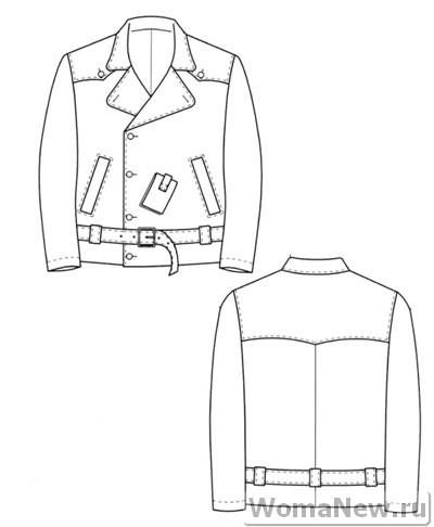 выкройка мужской куртки схематично