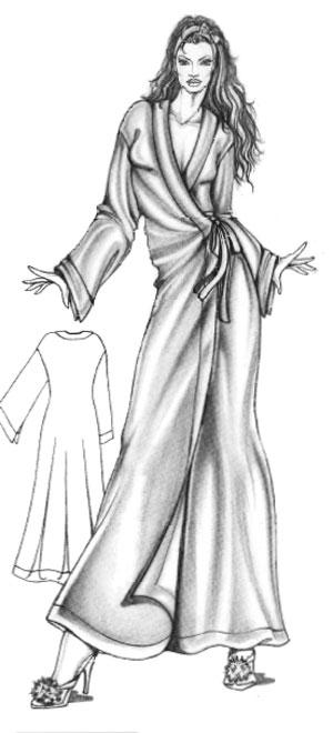 халат-женский