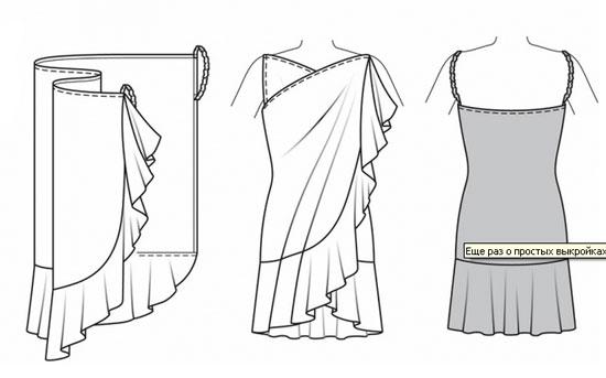 сшить-платье-без выкройки