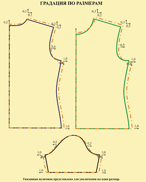 Выкройка футболки женской 44 размер