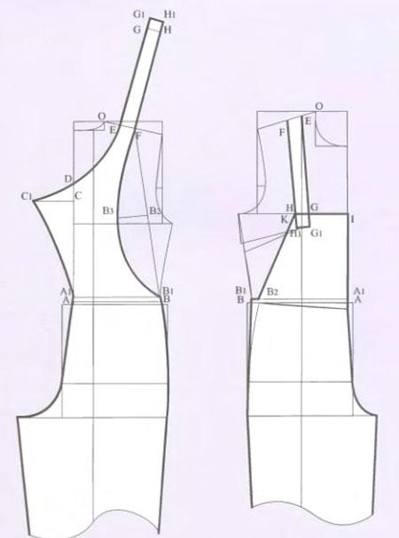выкройка-женского-комбинезона-построение