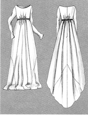 Выкройки платьев с завышенным лифом