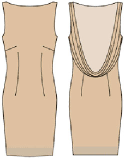 468572bb148 Как сшить платье короткое с открытой спиной. Платье с Открытой ...