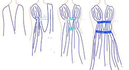 сшить греческое платье