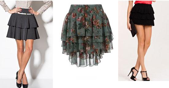 юбка пышная юбка с воланами
