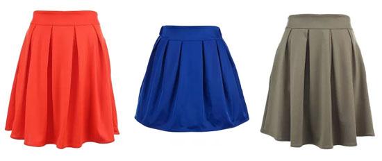 юбка в складку