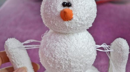 сшить снеговика