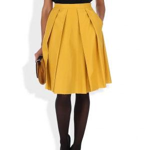 Выкройка юбки «полусолнце» в складку.