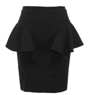 Выкройка красивой юбки с воланом.
