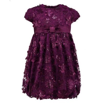 Выкройка нарядного платья для девочки.