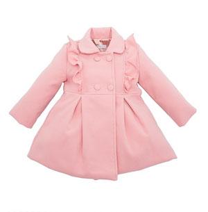 Выкройка красивого пальто для девочки.