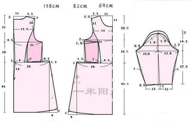 выкройка платья с пышной юбкой