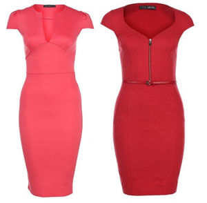 Выкройка красивого красного платья.