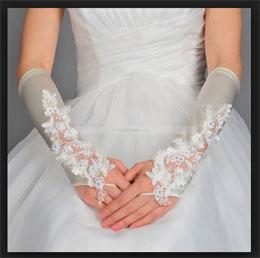 Как сшить красивые свадебные перчатки.