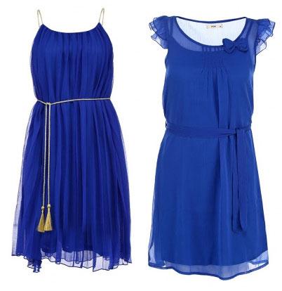 синие платья из шифона