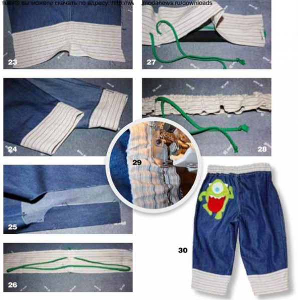 сшить брюки для мальчика