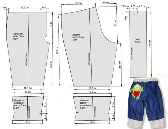 Как сшить штаны джинсовые 7