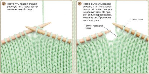 вязание спицами лицевые петли