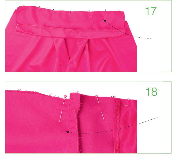 как сшить вечернее розовое платье