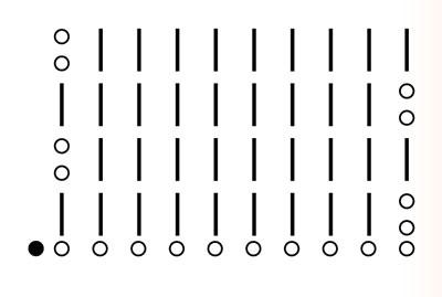 схема полуторных столбиков