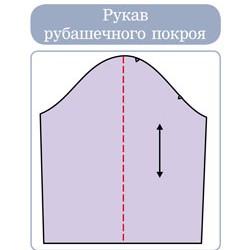 Обработка рукава рубашечного покроя.