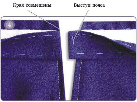 Как сшить пояс у прямой юбки