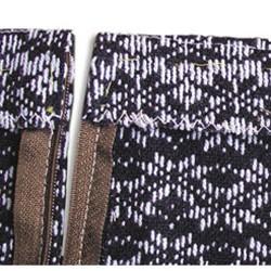 Обработка пояса юбки обтачкой.