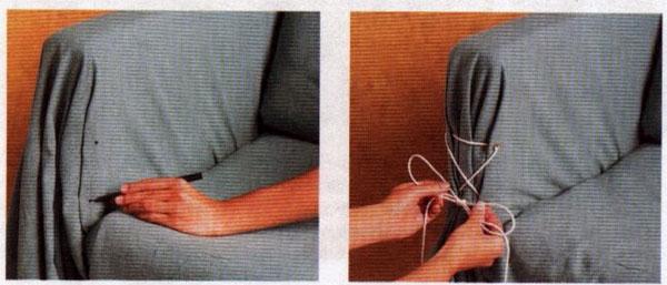 сшить чехол на диван со шнуровкой