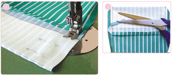 обработка накладного кармана с клапаном