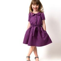 Выкройка платья для девочки с отложным воротником